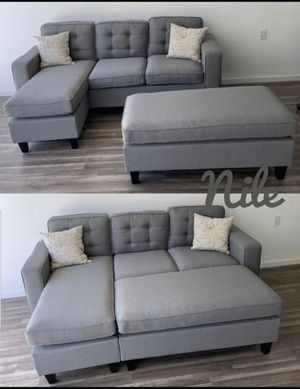 Sofa with ottoman, sleeper sectional 81x59 for Sale in Boca Raton, FL