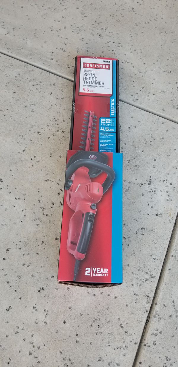 New in box Craftsman 22 inch electric hedge trimmer