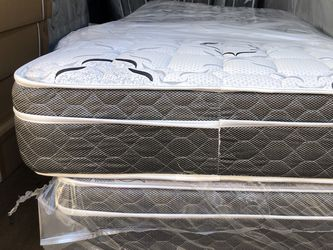 TWIN SIZE PILLOW TOP BRAND NEW MATTRESS BACK SUPPORT for Sale in Walnut,  CA