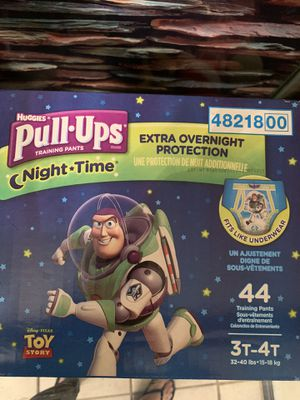 Huggies 3t-4t nighttime pull ups brand new box for Sale in Fontana, CA