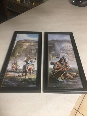 2 matching pictures 21 1/2 x 9 1/2 for Sale in Milton, FL