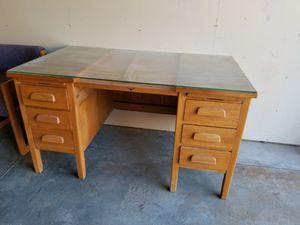 Wood desk for Sale in Pasco, WA