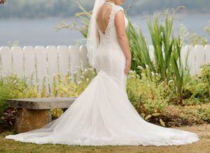 Size 8 Galina signature wedding dress for Sale in Everett, WA