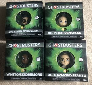Complete set of 4 Ghostbusters - Collectible Vinyl PVC Five Star Funko Toys - Slimer, Ray Stantz, Zeddmore, Egon, Peter Venkman for Sale in Mesa, AZ