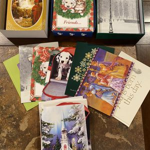 75+ Assortment of Christmas Cards with envelopes! for Sale in Lebanon, OH