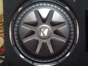 "KICKER - CompR 15"" Dual-Voice-Coil 4-Ohm Subwoofer - Black for Sale in Cypress Gardens, FL"