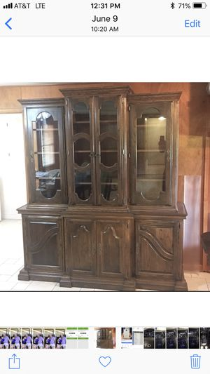 Custom made China hutch for Sale in Collinsville, OK