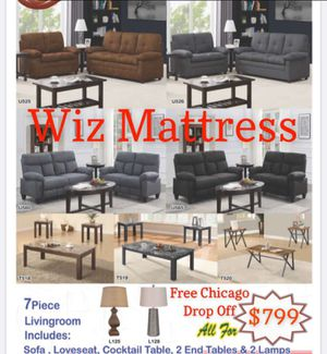7 piece living room set for Sale in Tinley Park, IL