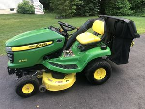 """John Deere X300 42"""" Riding Mower with 2 Bin Bagger and Delivery for Sale in White Marsh, MD"""