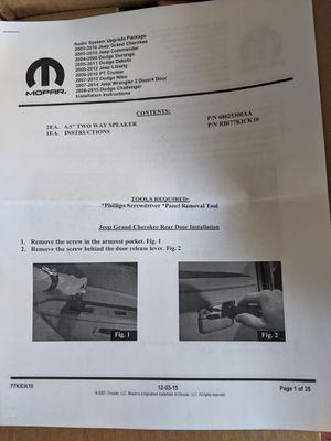 "Brand new MOPAR authentic (2)x 6.5"" 2-way speaker jeep grand cherokee commander wrangler liberty dodge durango dakota challenger nitro for Sale in Cupertino, CA"
