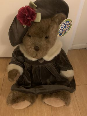 Soft Classics stuffed bear with hat & dress for Sale in Santa Monica, CA