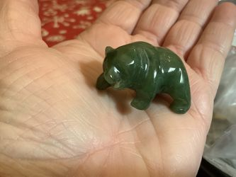 Carved Green Jade Bear for Sale in St. Charles,  IL