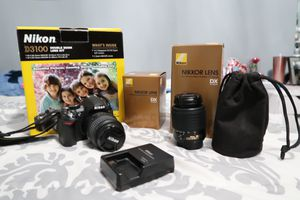 Nikon D3100 14.2MP Digital SLR Double-Zoom Lens Kit with 18-55mm and 55-200mm DX Zoom Lenses for Sale in Opa-locka, FL
