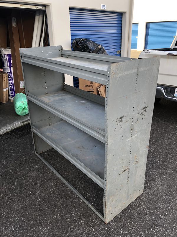 Metal shelving storage racks