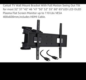 "TV Wall Mount Bracket With Full Motion Swing Out Tilt for most 32"" 37 ""42"" 46 ""47 ""50"" 52"" 55"" 60"" 65""LED LCD OLED Plasma Flat Screen Monitor for Sale in La Puente, CA"