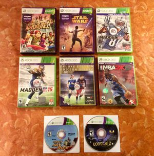 8 Xbox 360 Kinect Games $40 Or Best Offer for Sale in March Air Reserve Base, CA