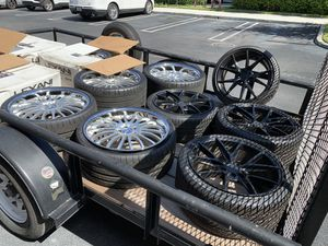 Set of 4 Michelin Extra Load Pilot Super Sport Tires + 4 Quality Wheels for Sale in Miami, FL