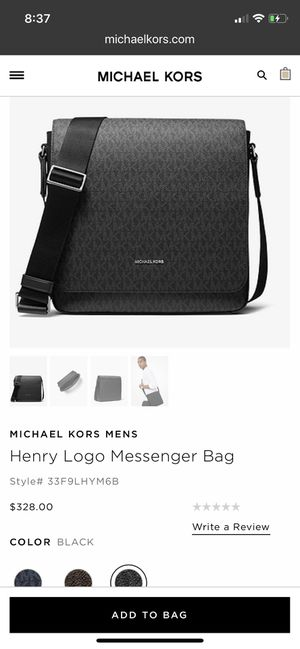 Michael kors Vick Messenger bag for men for Sale in Fontana, CA