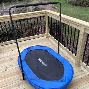4.6' Foldable Oval Trampoline with Handlebar for Sale in Norcross, GA