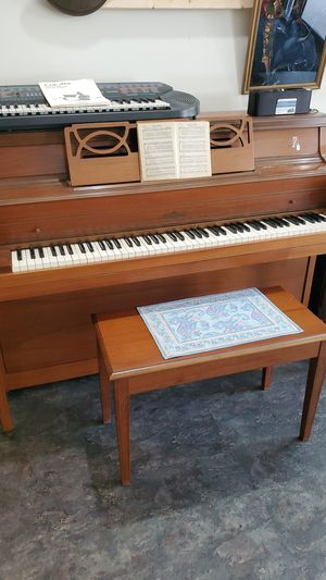 Cable Nelson piano and chair for Sale in Northumberland, PA