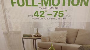 Full motion tv wall mount ...new in box!!! Pick up in Plano (I can meet anytime) for Sale in Plano, TX