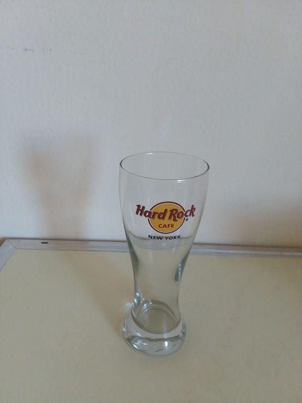 Hard Rock Cafe NEW YORK Pilsner BEER Glass.