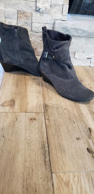 Grey wedge booties for Sale in Levittown, PA