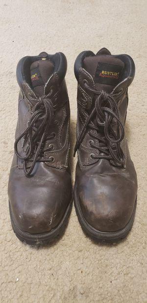 Rustler's Advantage Brown Leather Steel Toe Boots for Sale in Fairfax, VA