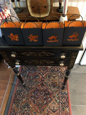 Halloween witch and black cat luminaries for Sale in Suffolk, VA