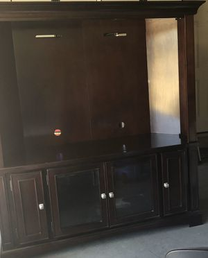TV stand - solid wood/Mahogany for Sale in La Habra Heights, CA