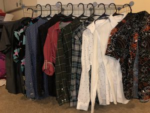 Big lot of nice cool men's shirts jackets medium name brand! for Sale in Leesburg, VA