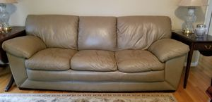 Leather sofa and big chair for Sale in Charlottesville, VA