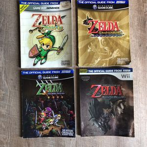 Zelda Official Nintendo Guide Books x4 for Sale in Tustin, CA