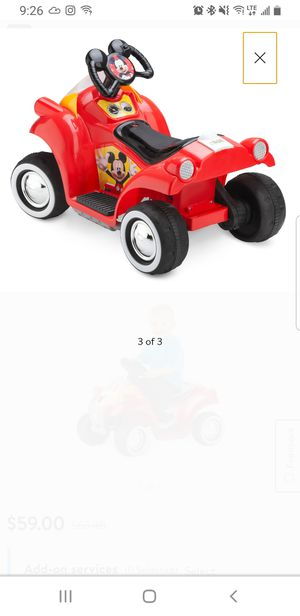 Disney Mickey Mouse Hot Rod Toddler Ride-On Toy by Kid Trax for Sale in Dearborn, MI