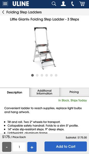 Little Giant Three Step ladder for Sale in Chula Vista, CA