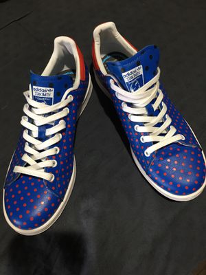 Pharrell Williams Stan Smith adidas tennis shoes only worn once still like new for Sale in Cleveland, OH