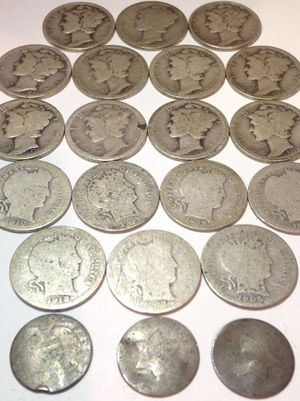 Rare Old SILVER 1850s-1940s US Coins Type Set- 3 Cent Silver Pieces, Silver Barber Dimes, Silver Mercury Dimes! for Sale in Fairfax, VA