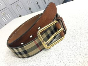 Authentic Burberry belt size 34-38 for Sale in Hayward, CA