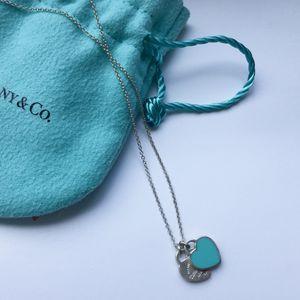 Tiffany&Co Mini Double Heart Tag Pendant Necklace for Sale in Falls Church, VA