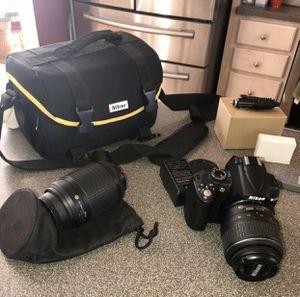 Nikon D5000 Digital SLR Camera with 18-55mm VR Lens & 55-200 mm Lens for Sale in Thomasville, NC