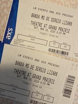 Banda Ms Tickets for Sale in Dallas,  TX
