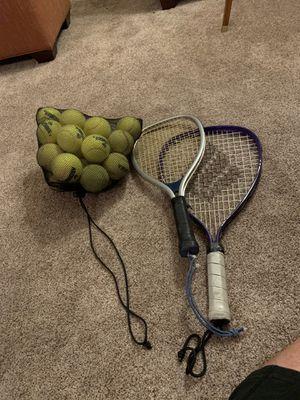 Two tennis rackets & balls for Sale in Phoenix, AZ