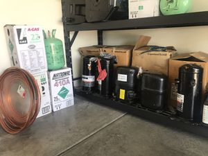 Used r22 and 410A freon compressor for less installation $$ for Sale in Phoenix, AZ