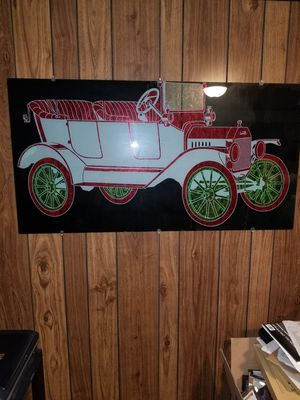 Ford Model T Iched in Glass for Sale in Warren, MI