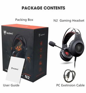 Gaming Headset for Xbox One, PS4, PC, Controller, NUBWO Wired Gaming Headphones with Microphone and Volume Control for PC / Ps4 / Xbox one 1 / Phone/ for Sale in Arlington, TX