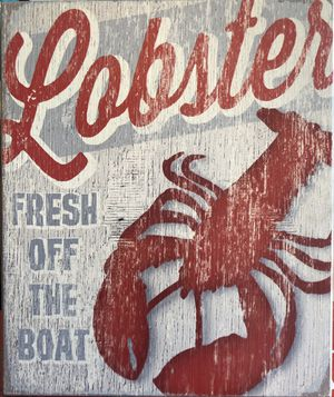Lobster - Fresh off the Boat wood Art for Sale in Anaheim, CA