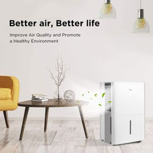 Midea MAD20C1ZWS Dehumidifier for up to 1500 Sq Ft with Reusable Air Filter, Ideal for Basement, Bedroom, Bathroom for Sale in Deltona, FL