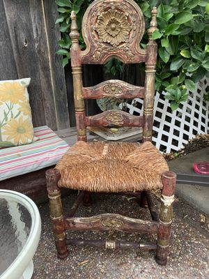 Vintage Mexican hand carved hacienda chair for Sale in San Jose, CA
