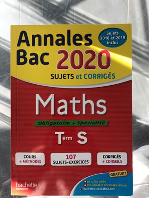 Annales Bac 2020 Maths - HACHETTE EDUCATION for Sale in Beverly Hills, CA