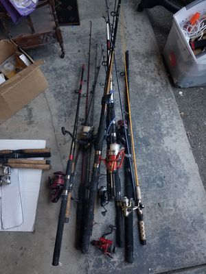 Fishing rods reels spinner baits TRADE for Sale in San Francisco, CA